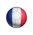 french flag football - soccer ball vector image