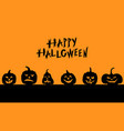halloween funny horror pumpkins banner vector image vector image