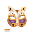 hand drawn venetian carnival cat mask vector image