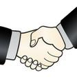handshake sign agreement vector image vector image