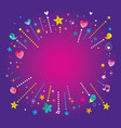 happy fun bursts explosion banner frame vector image vector image