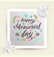 happy memorial day lettering vector image vector image