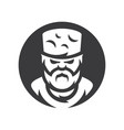 highlander chechen man silhouette sign vector image vector image