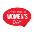 international womens day label vector image