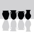 jar black silhouette vector image