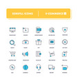 line icons set e-commerce 1 vector image
