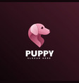 logo puppy gradient colorful style vector image