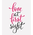 Love at first sight typography quote vector image vector image