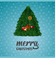 merry christmas gift tree background vector image vector image