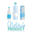 milk products lacteous drink in bottle vector image