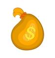 Money bag icon in cartoon style vector image vector image