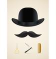 Moustache style icons set