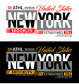 new york denim t-shirt and apparels graphic design vector image vector image