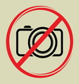 no camera1 vector image vector image