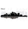 oslo norway city skyline silhouette with black vector image vector image
