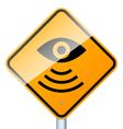 radar road sign vector image vector image