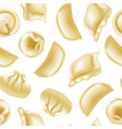 realistic detailed 3d different types dumplings vector image