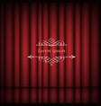 red curtains and vintage border frame with space vector image vector image