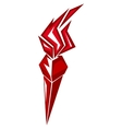 Red stylized torch vector image