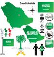 Saudi Arabia map vector image vector image
