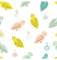 seamless pattern with birds and fruits vector image vector image