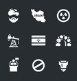 set of iran icons vector image vector image