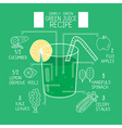Simply green juice recipes great detoxifier vector image vector image