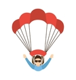 skydiving extreme sport icon vector image vector image