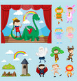 stage scenes with different characters vector image vector image