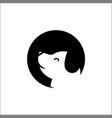 stylized dog head icon logo vector image