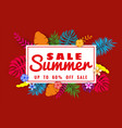 summer sale banner template for seasonal sales vector image vector image