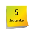 The fifth of September vector image vector image