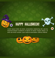 traditional halloween festive poster vector image vector image