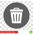 Trash Can Round Eps Icon vector image
