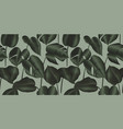 tropical plant seamless pattern philodendron silk vector image vector image