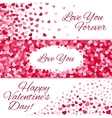 valentines day sale love banners vector image