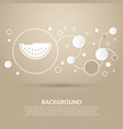 watermelon icon on a brown background with vector image vector image
