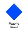 waves cryptocurrency symbol vector image vector image