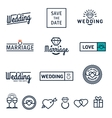 Wedding set icons and logos vector image vector image