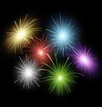Firework set vector image