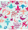 Seamless pattern with vintage heraldic silhouettes vector image