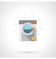 Flat color washing machine icon vector image