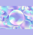 abstract 3d fluid holographic gradient shape vector image vector image