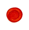 acrylic red circle vector image vector image