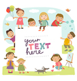 Background with cute kids vector image vector image