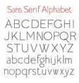 basic skeleton sans serif alphabet with uppercase vector image vector image