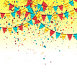 Birthday Background with Colorful Garlands vector image vector image