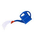 blue plastic watering can vector image
