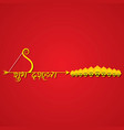bow and arrow in happy dussehra festival of india vector image vector image