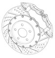 brake disc outline rendering of 3d vector image